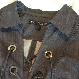 Lafayette 148 Dress, Denim size 8